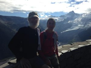 Charlie and Nancy in Washington's Mount Rainier National Park