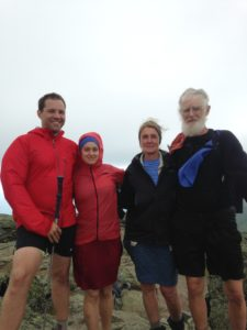 My fiance Jared, me, Nancy, and Charlie on Mt Madison