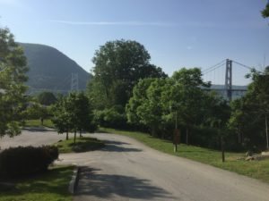 The Bear Mountain Bridge from the park where we detoured through to miss road construction