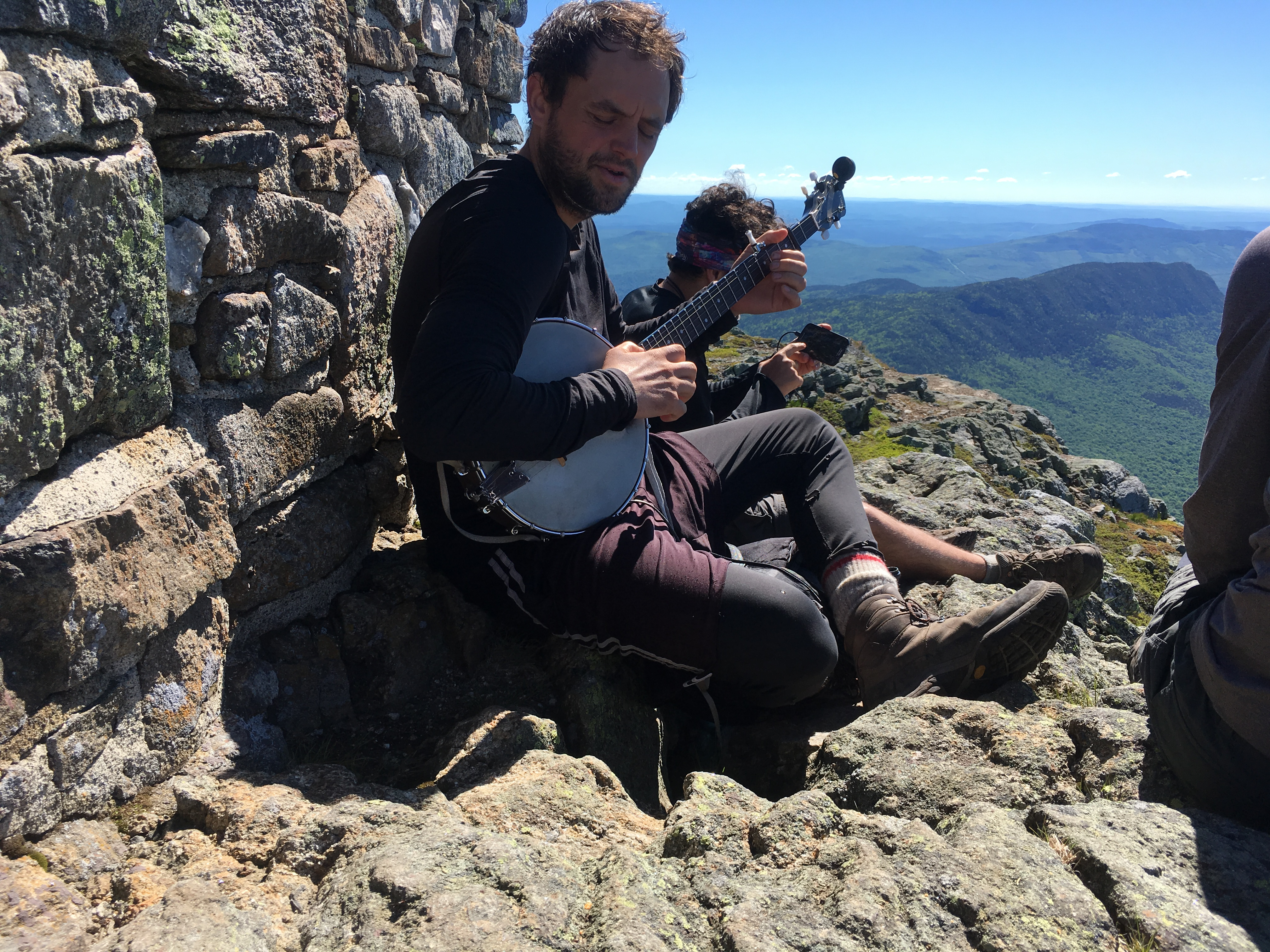 Playing tunes on top of Bigelow Mountain