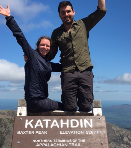 At the summit of Katahdin! (aka the start of the SoBo AT)