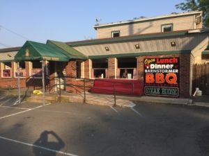 We stop at Barnstormer BBQ before checking into our Hotel and had a cheeseburger! I know BBQ so we went back that night for BBQ