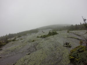 A slippery and rainy climb up Baldpate Mountain