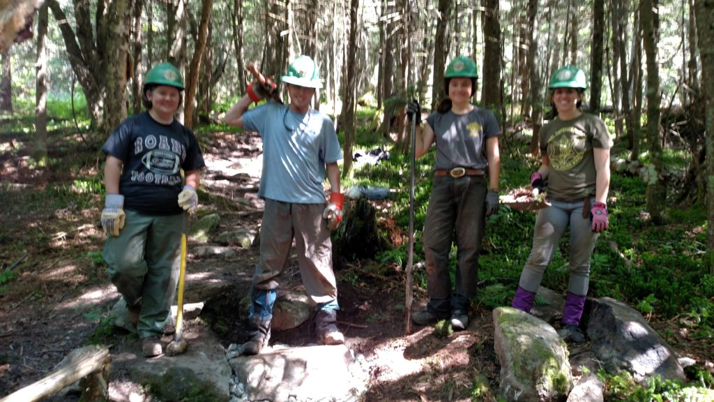 Green Mountain Club trail crew--- thanks a bunch!