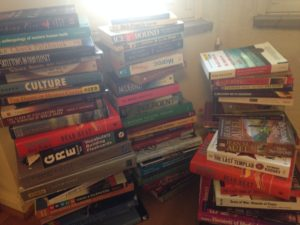 Just some of the books that are no longer cluttering my home