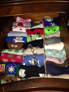 Yes, my socks are now organized by holiday.