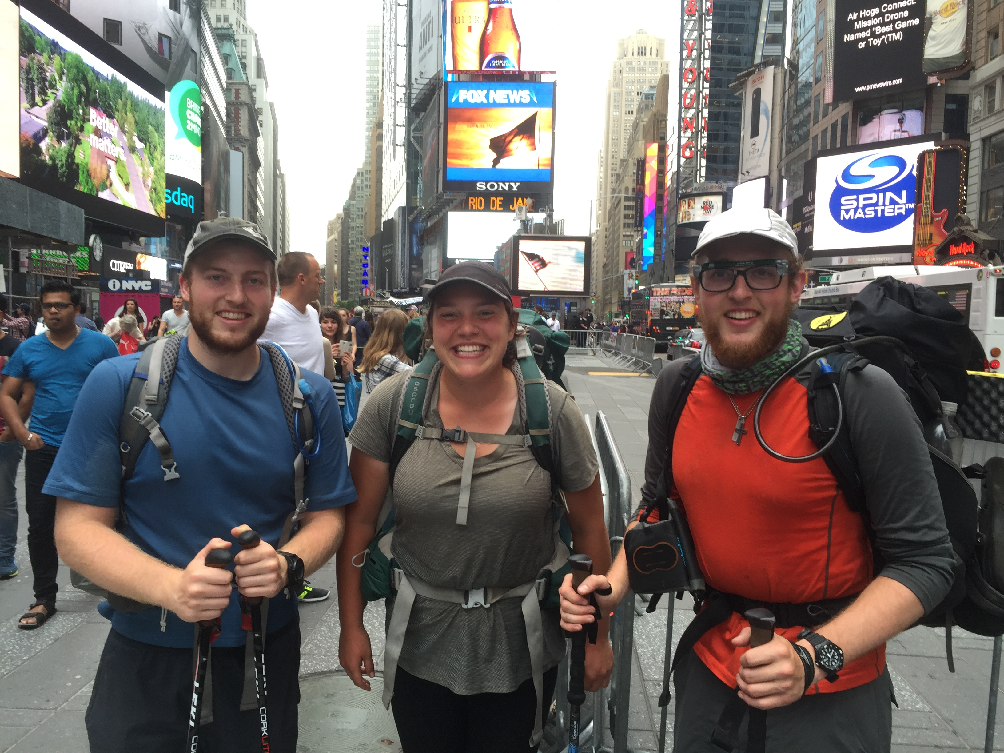 Hikers in NYC - not the strangest thing you'll see