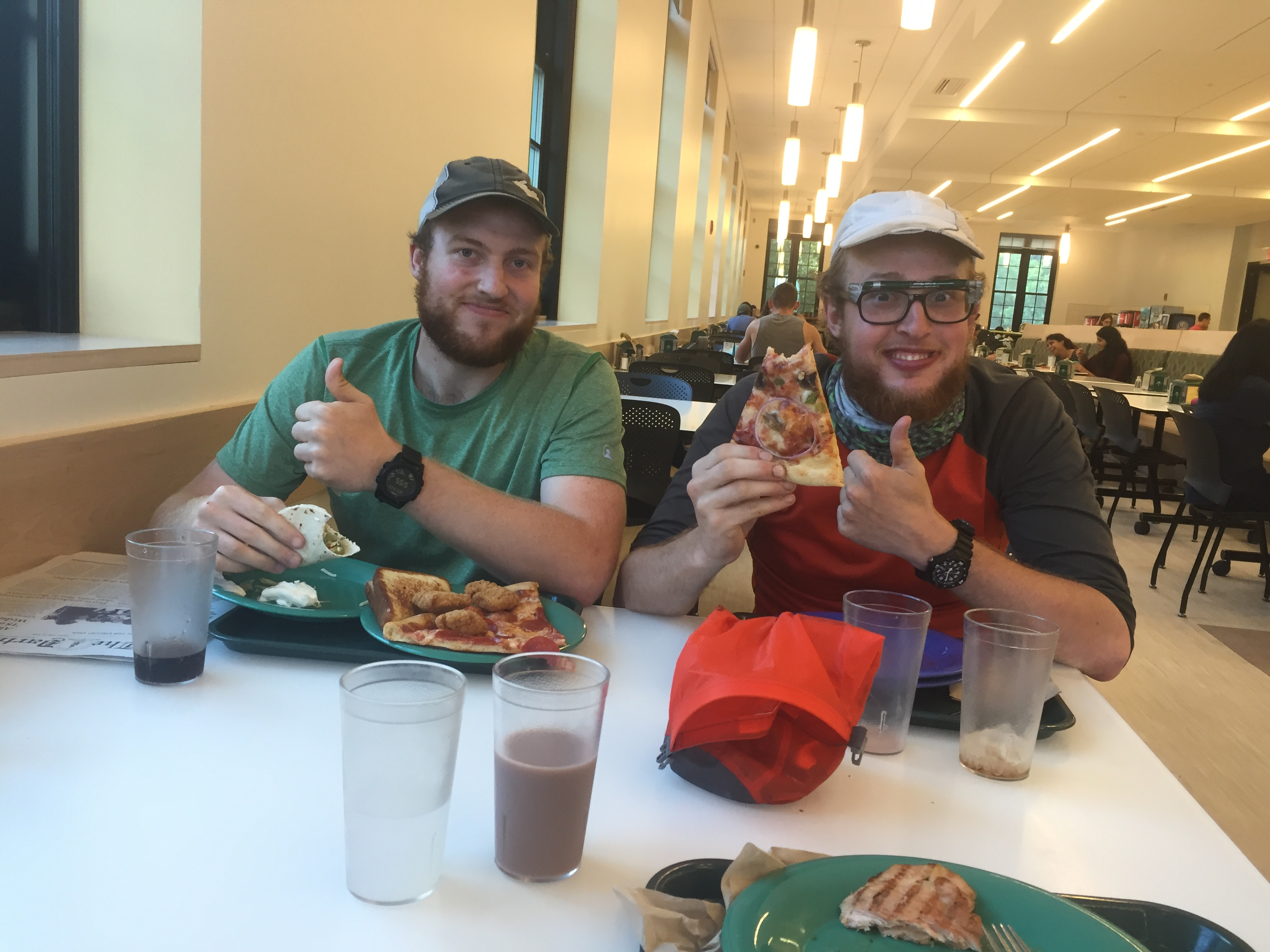 We feasted at Dartmouth College's all you can eat cafeteria