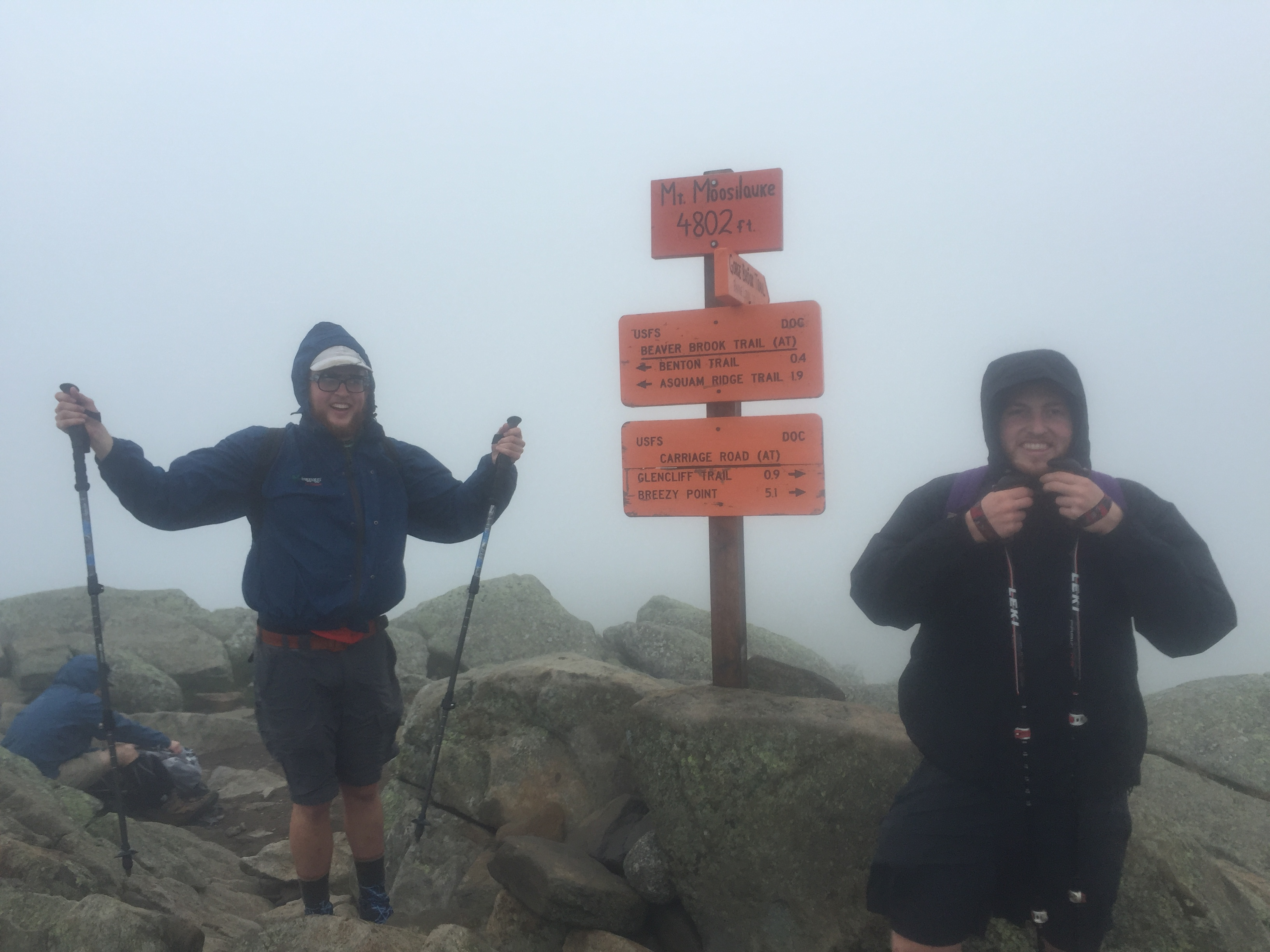 Unfortunately we didn't have any view on the top of Moosealauki, but it was incredibly windy!