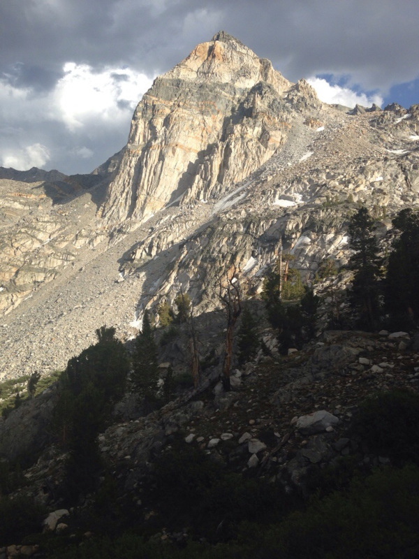 The Painted Lady towers over Rae Lakes