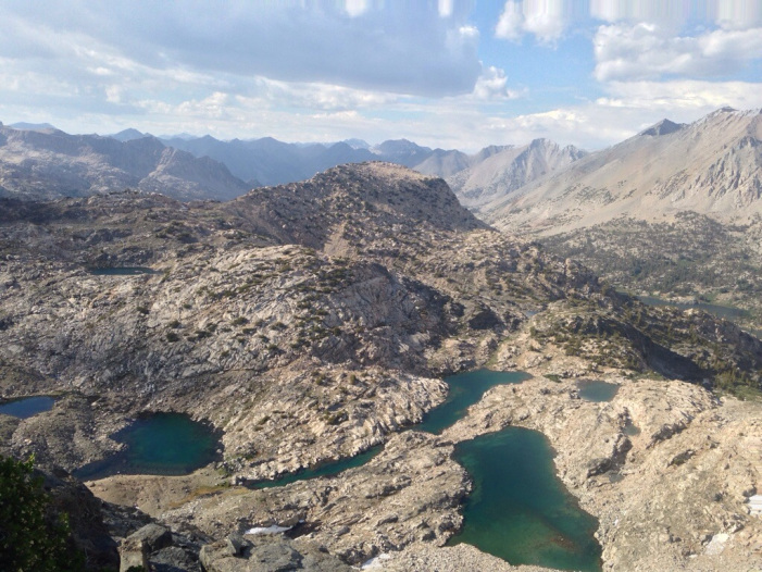 Rae Lakes on the JMT/PCT