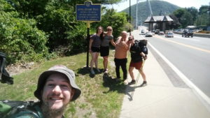 Ran into some more awesome thru-hikers when we were dropping off Vino for a day of slackpacking