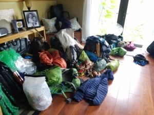 This is what it looks like when you have eight thru-hikers stay the night in your house in case you were wondering