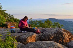 Bear Vault Dinner at Sunset in Tinker Cliffs, VA