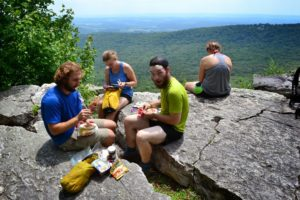 Lunch time in the rocks of Pennsylvania
