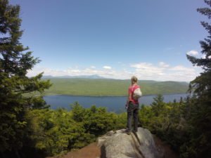 Taking in one of our first views of Katahdin