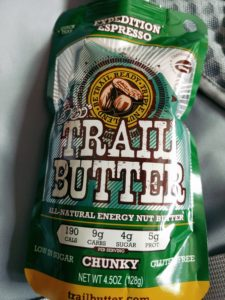 Yum yum trail butter in my tum