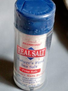 Real salt in a real tiny container