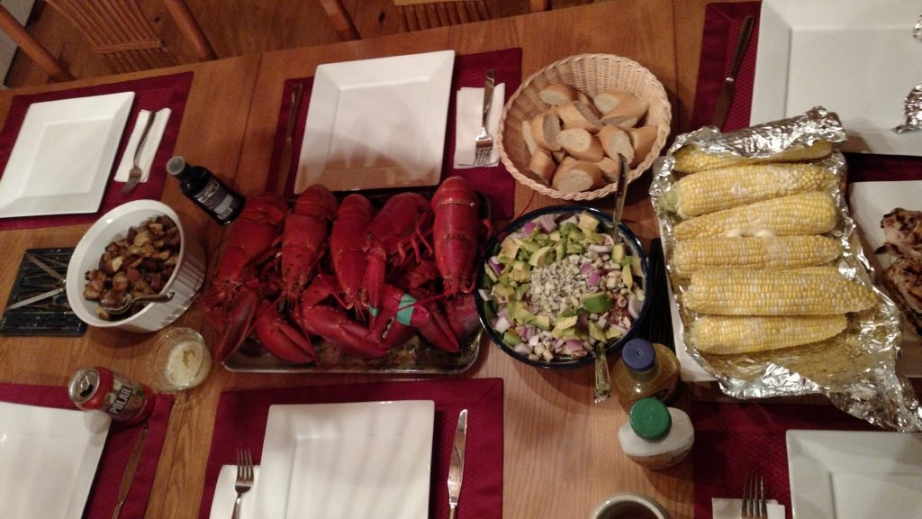 Lobster dinner with the Carberry crew!