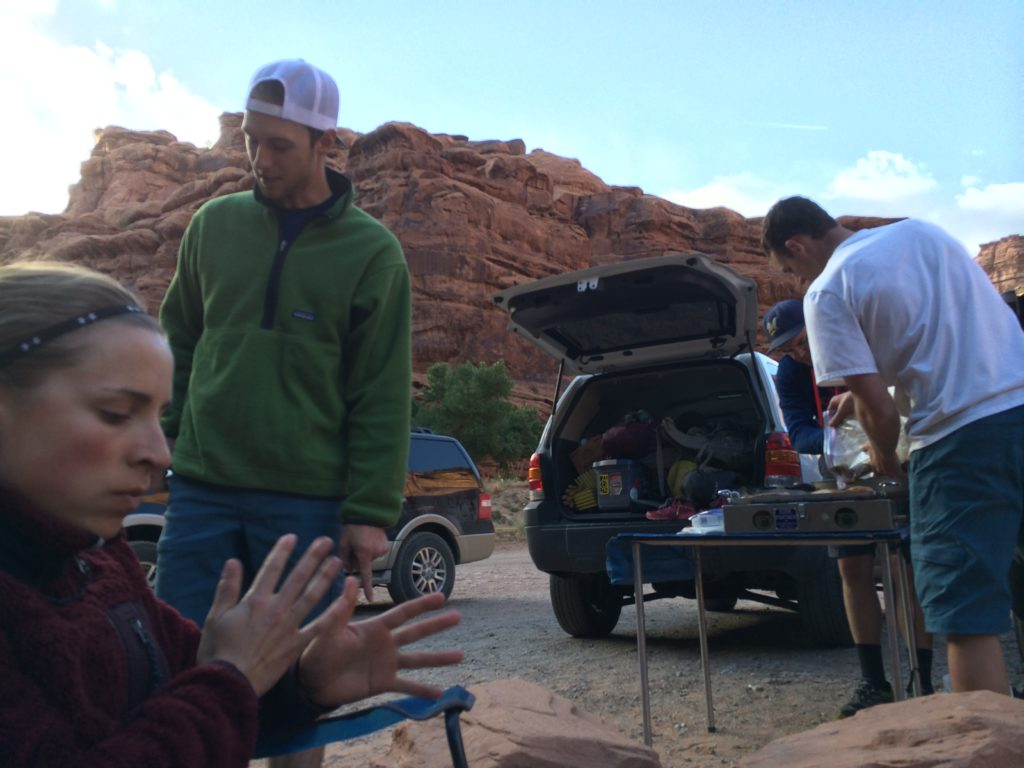 Moab trip- climbing, canyoneering, hiking.