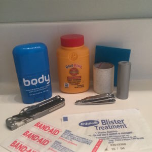 Make a small foot repair kit