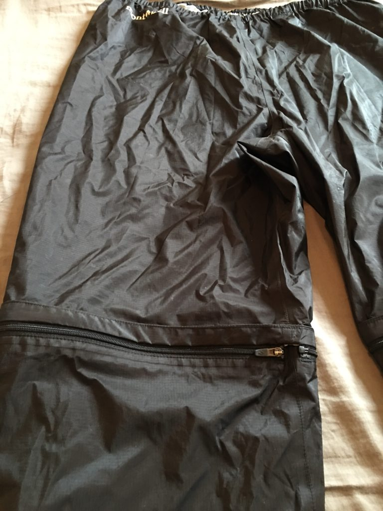 montbell convertible rain pants 1
