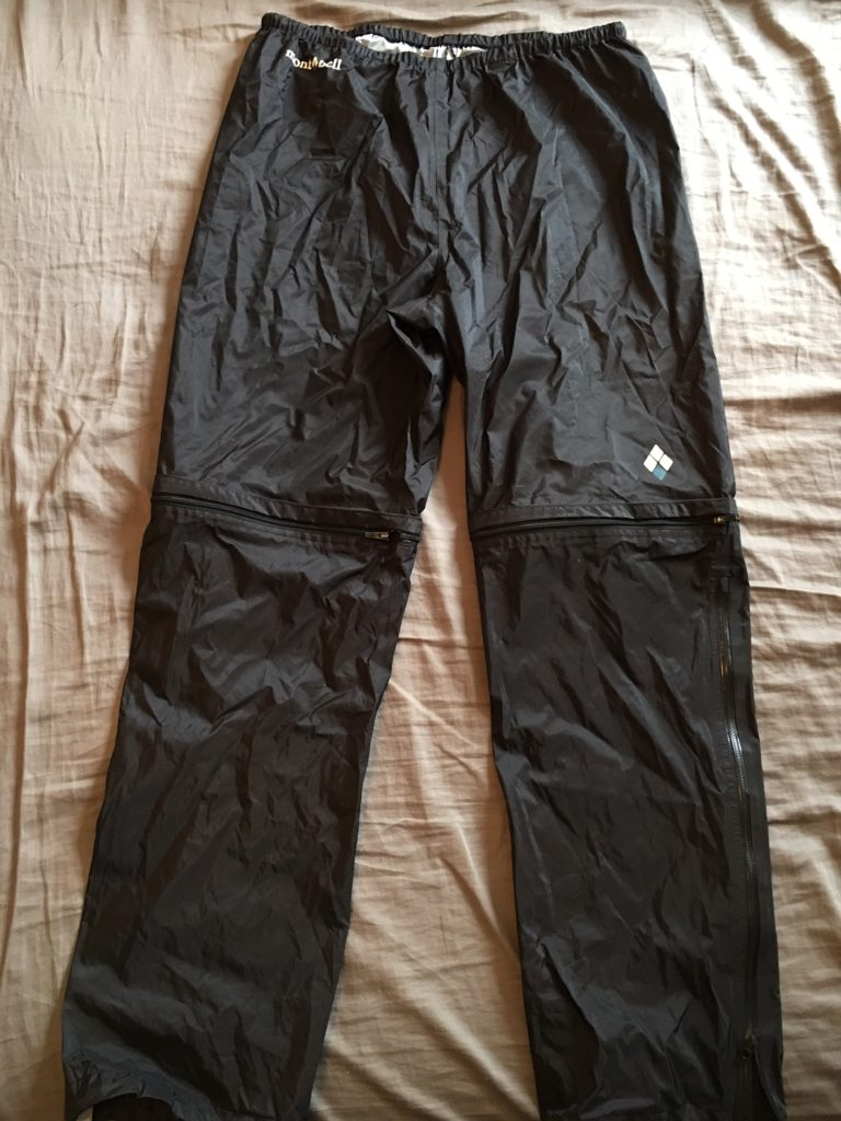 montbell convertible rain pants