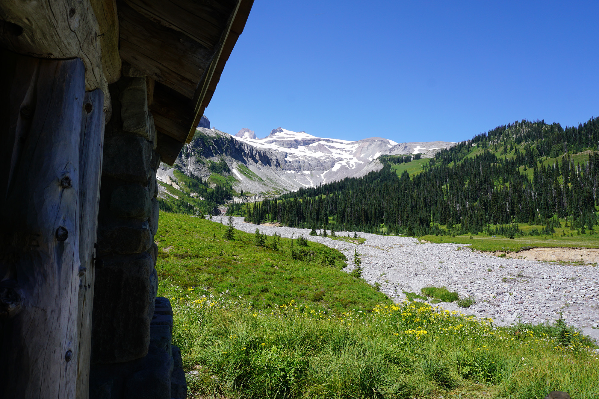 wonderland trail shelter view