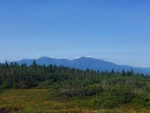 View of Mount Madison (right) and Mount Washington (left).