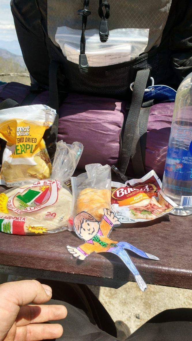 A hiker's feast is close to the size of what I used to consider a small afternoon snack. Go fatty me