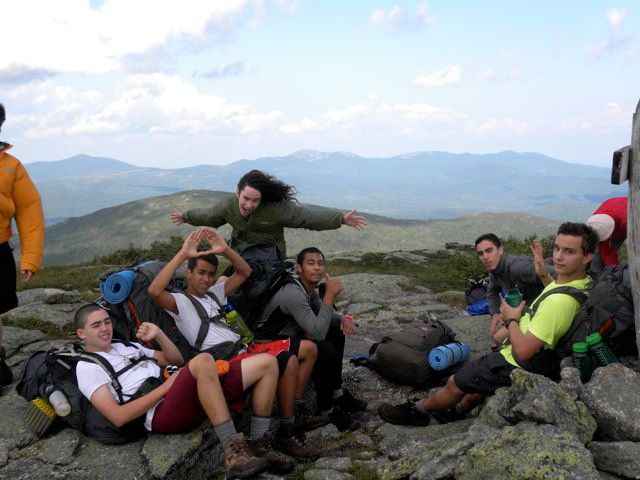 Saddleback Mountain 2010 (yes that's me with the hair)