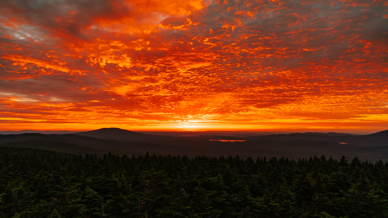 Glastonbury Mountain Firepower sunrise VT.