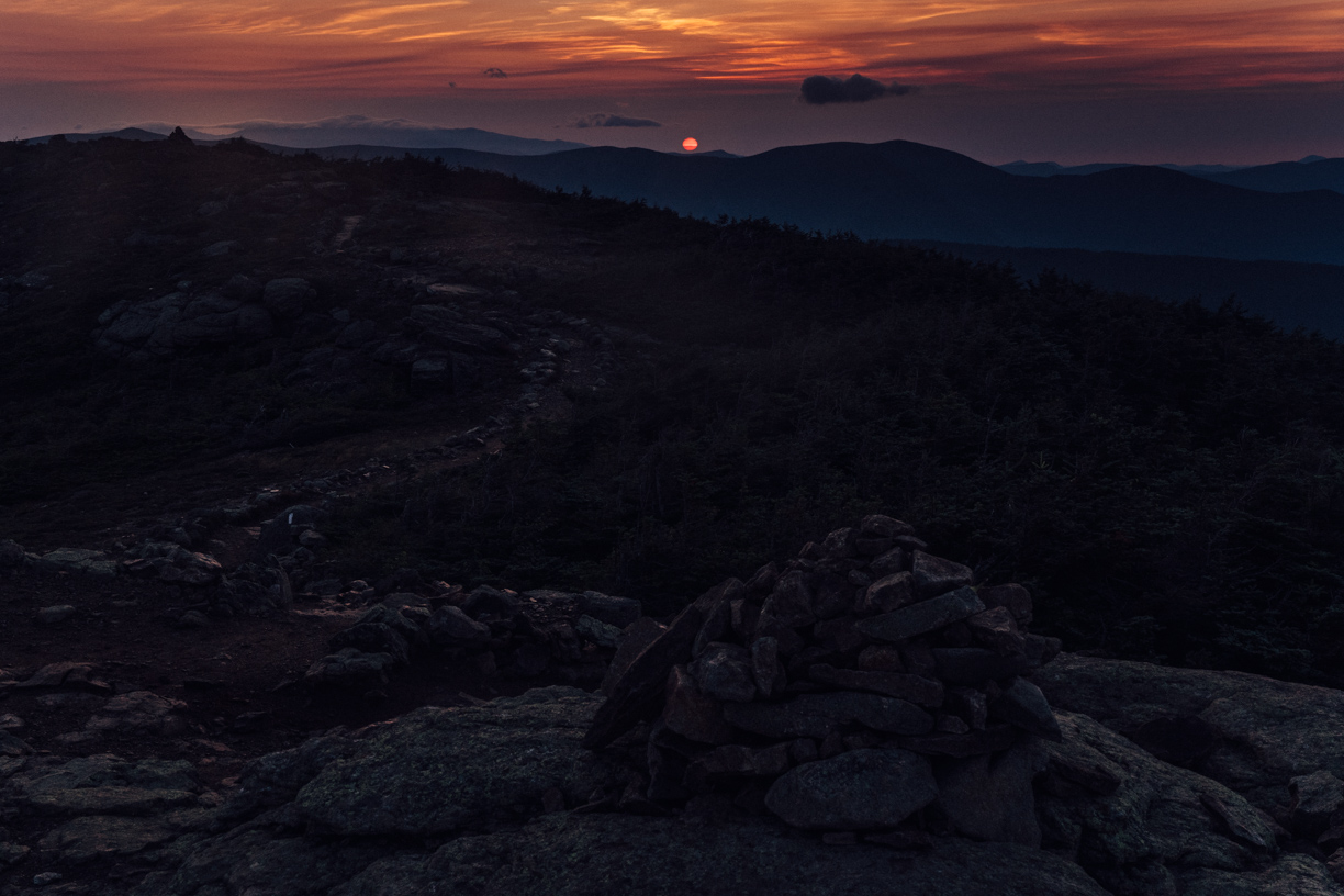 Sunrise from Franconia Ridge.
