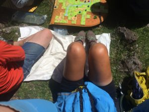 Some hikertrash carried some amusement with them. During breaks we would place this (Carcassonne) and Settlers of the CDT (homemade version). Winner carried the game!