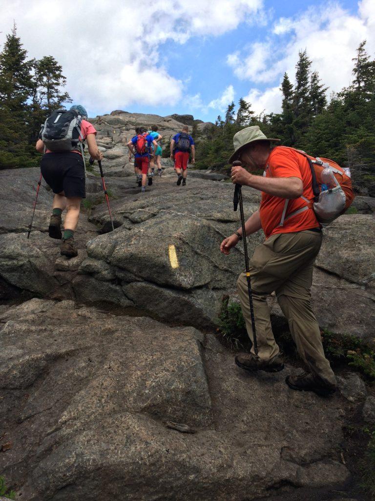 Ascending the rocks to Cascade.
