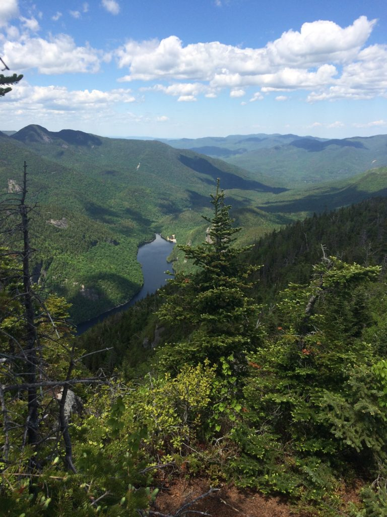 The view of Ausable Lake