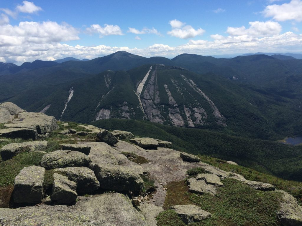 From the summit of Algonquin, the slides of Colden are epic!