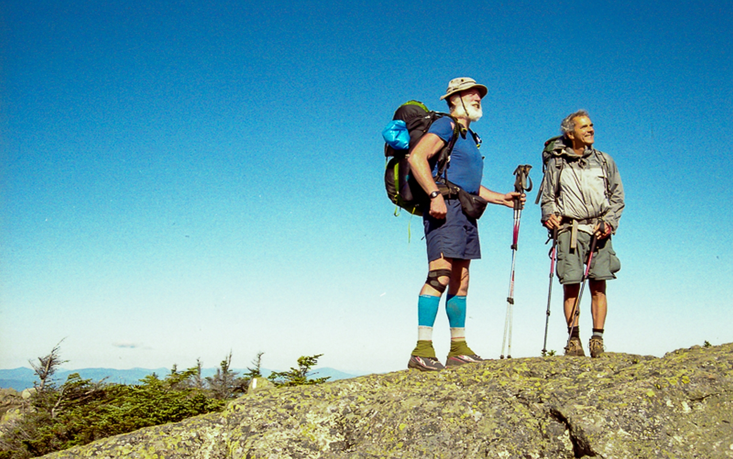 Kimo-sabi and a section hiker in Maine.