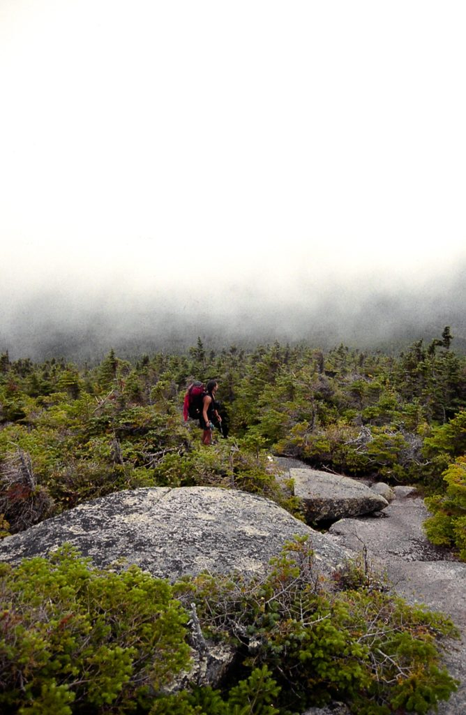 Hiking in the clouds.