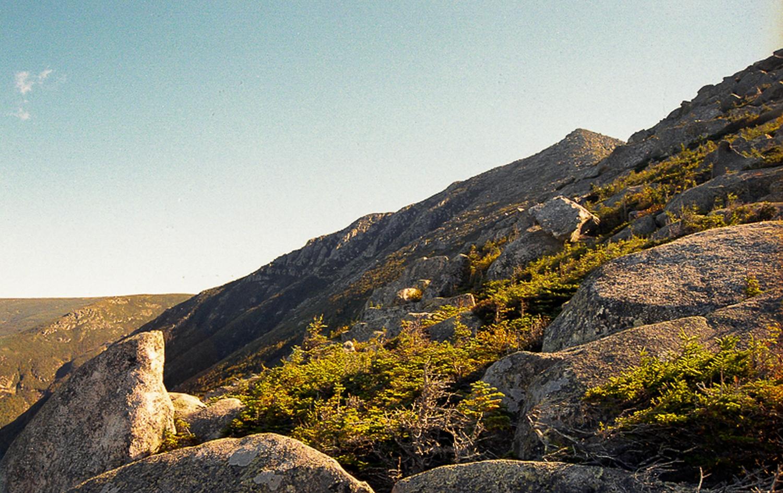 Climbing Katahdin.