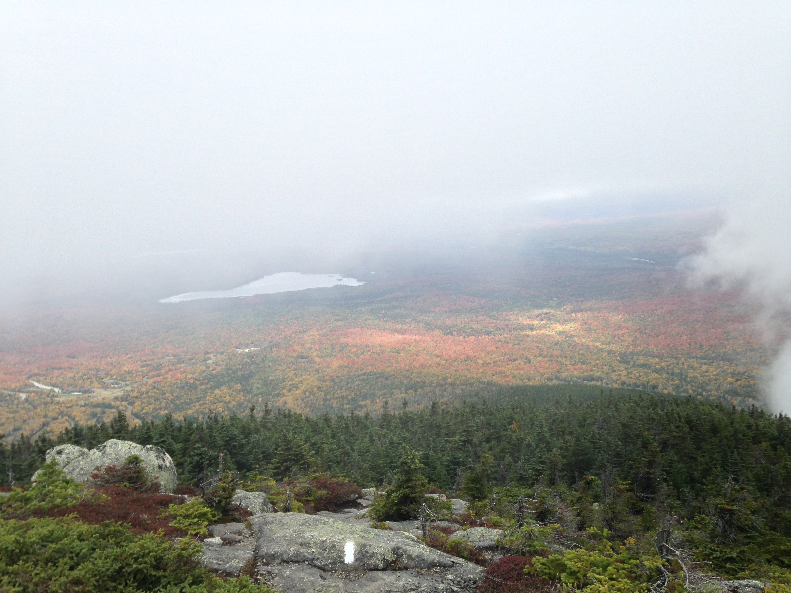 A tantalizing glimpse of view near the top of The Horn.