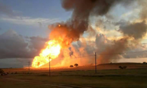 42-inch natural gas pipeline explosion in Cuero, TX on June 14, 2015.