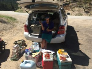 The best trail magic always involves Costco-sized amounts of food.