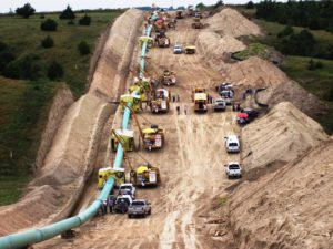 "Construction of a 42"" diameter pipeline in Nebraska."
