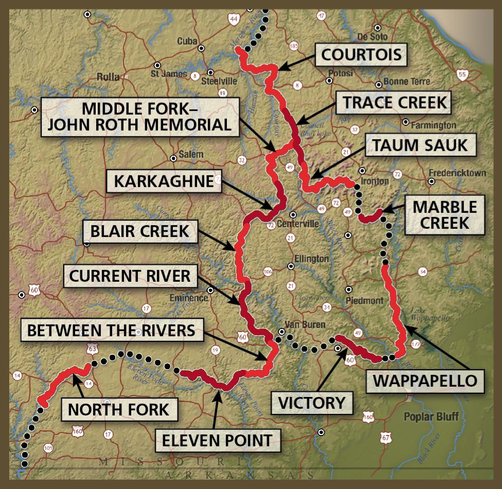 Ozark trail ot last minute hiking trip the trek trail otsectionmap fandeluxe Gallery