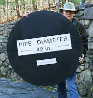 "Representation of a 42"" diameter pipeline. Credit: Roanoke Valley Sierra Club"