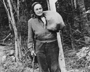 In 1955 Grandma Gatewood (Age 67) hiked the AT with a bag made out of an old shower curtain.