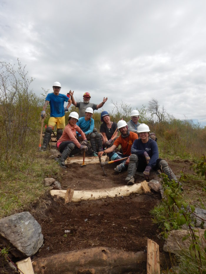 ATC volunteers having a blast building trails together. PC: Appalachian Trail Conservancy