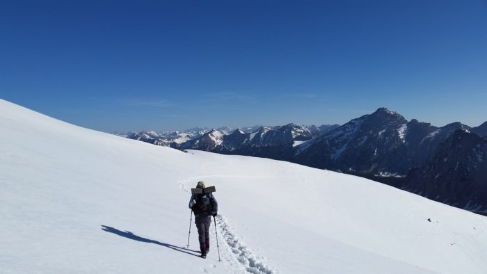 Descending Forester Pass