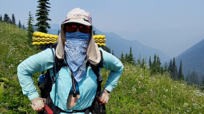 Smoke in our lungs- Glacier Peak Wilderness, Washington